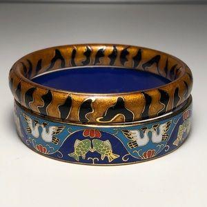Cloisonné Bangle Bracelet set